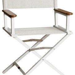 Directors Chair White Benchmaster Nicholas Leather And Storage Ottoman Monterey Silver Director W Frame Contemporary Outdoor Folding Chairs By Shopladder