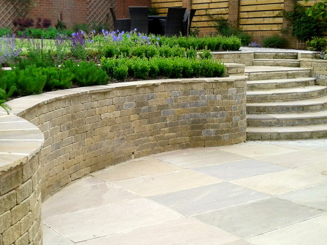 Split Level Garden With Steps Modern Exterior Other By