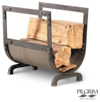 Old World Wood Holder in Forged Iron - Traditional ...