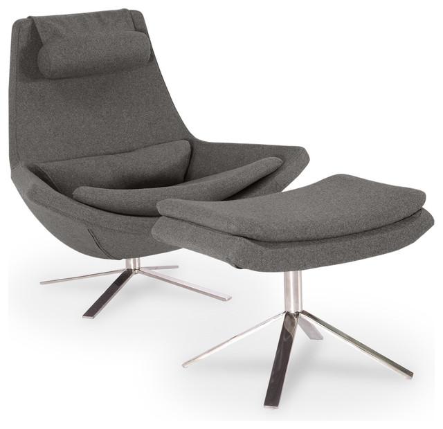 Kardiel Retropolitan Modern Lounge Chair  Ottoman