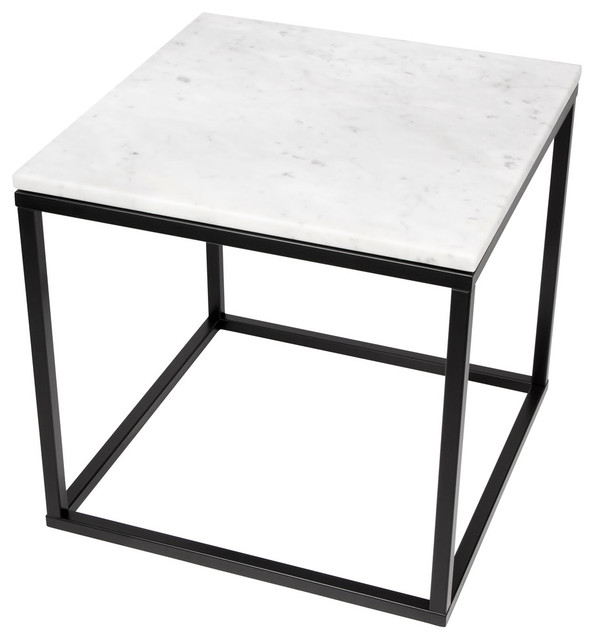 prairie 20 x20 end table with marble top