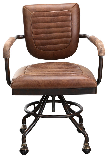 Foster Desk Chair Soft Brown  Industrial  Office Chairs