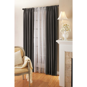 Can I Hang Sheers Behind Drapes Without A Double Curtain Rod?