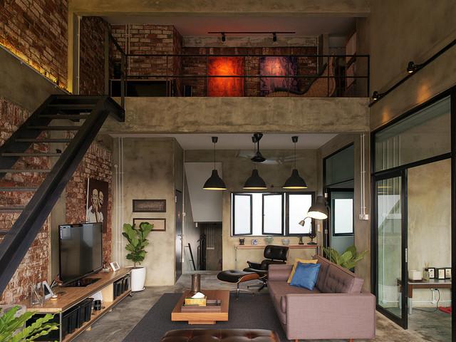 Modern Industrial Loft Apartment