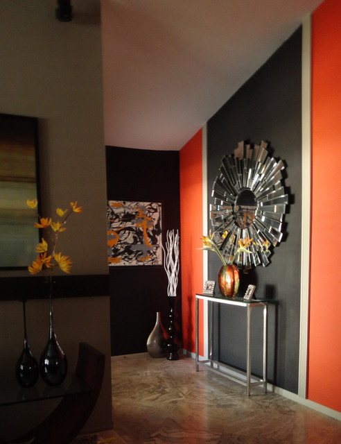 Accent Wall  Modern  Living Room  san diego