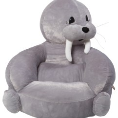 Kids Plush Chairs All Weather Wicker Trend Lab Children S Walrus Character Chair Contemporary By