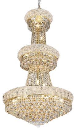 French Empire Crystal Chandelier 24 Light Traditional Chandeliers