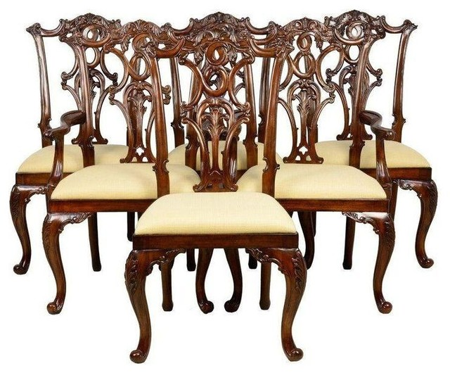 maitland smith dining chairs high chair clearance mahogany set of 6 traditional by chairish