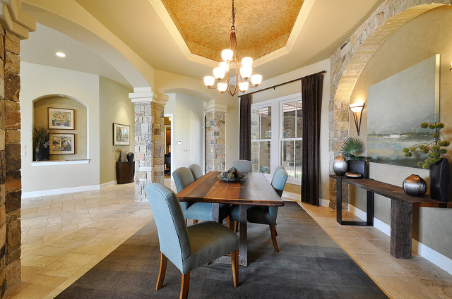 Earthy and Elegant Dining Room