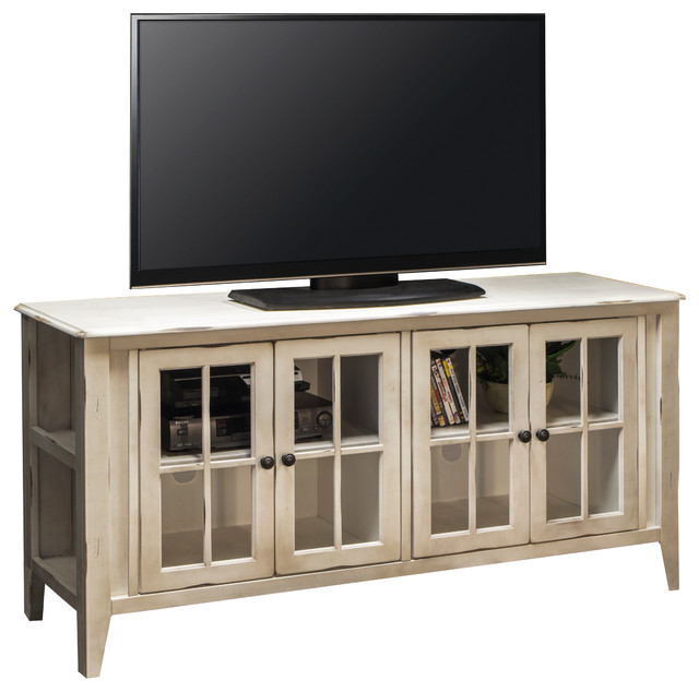 Calistoga TV Console White  Beach Style  Entertainment Centers And Tv Stands  by Legends