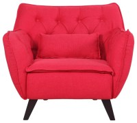 Mid Century Modern Tufted Linen Fabric Accent Living Room ...