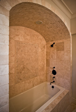 Bath with Arched ceiling