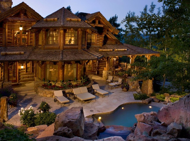 Strawberry Park Lodge  Rustic  Pool  Denver  by RMT