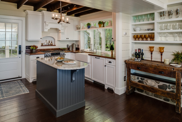 Cottage Charm Rustic Kitchen Grand Rapids By Petoskey