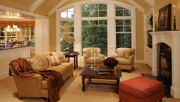 traditional living room interior design New Home Construction Cottage Style - Traditional - Living Room - Minneapolis - by Letitia