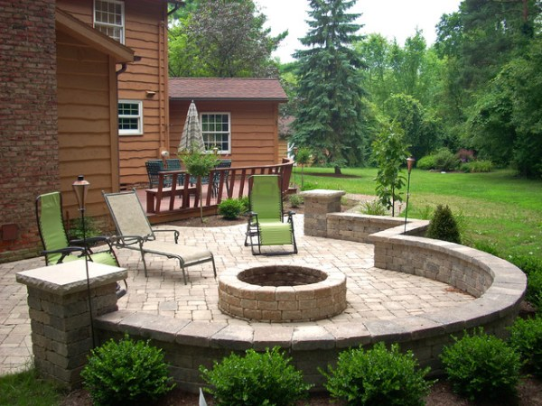 backyard fire pit - traditional