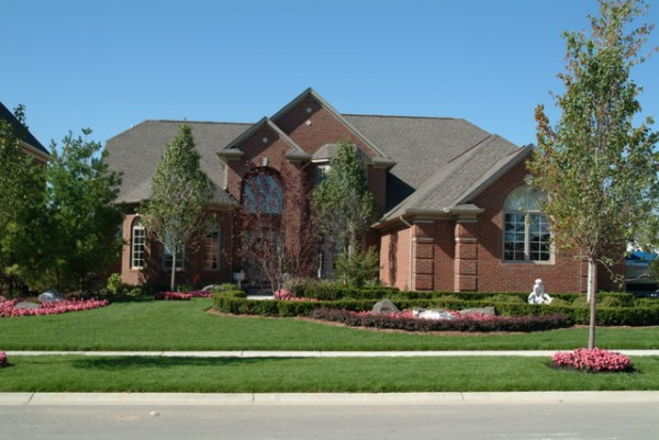 front yard landscape - traditional