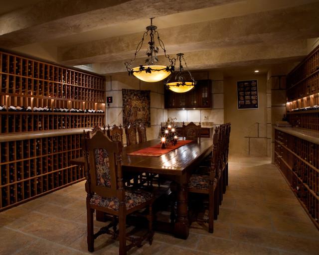 Tuscan Wine Room Mediterranean Wine Cellar San
