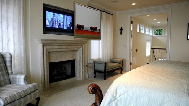 Hidden TV in Master Bedroom  Traditional  Bedroom  San