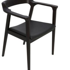 Modern Leather Dining Chairs With Arms Sailcloth Beach Caitlan Armchair Contemporary By Inmod