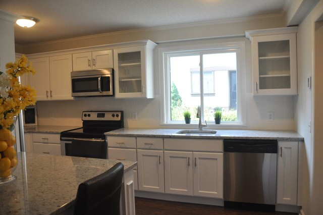 stainless steel stools kitchen best sink faucets southbury merillat classic ralston full overlay white
