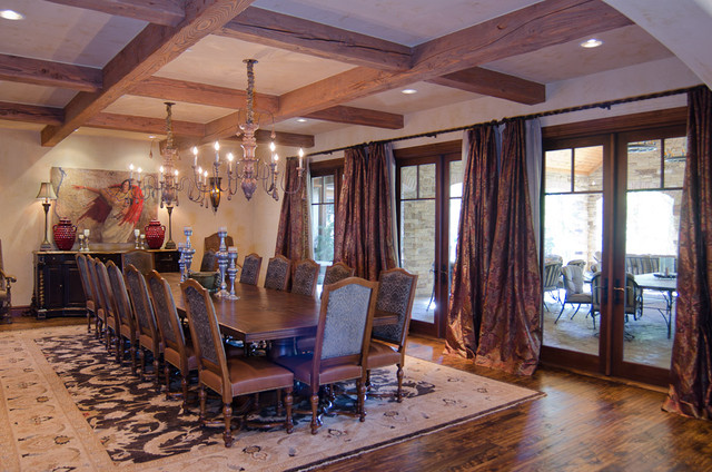 Texas Hill Country Style Traditional Dining Room
