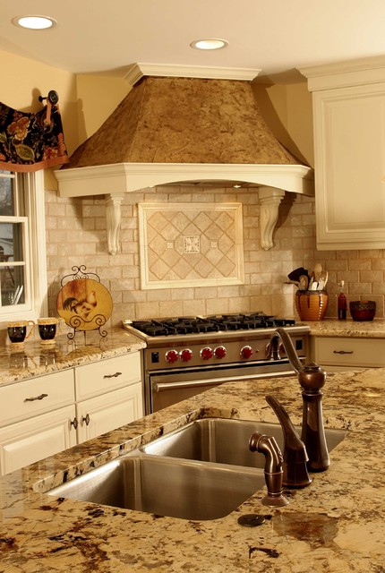 French Country Kitchen Hood  Traditional  Kitchen