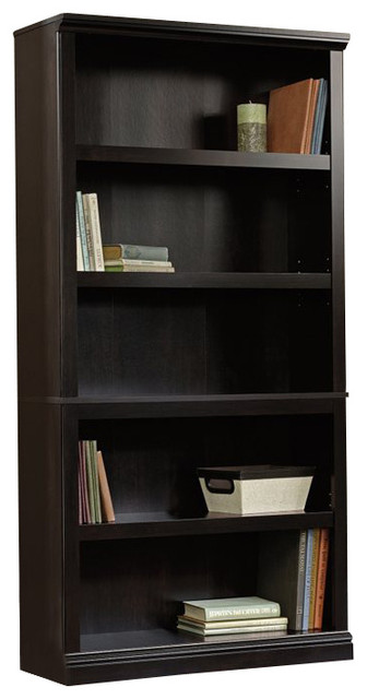 Sauder Select 5Shelf Bookcase in Estate Black Finish