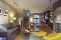 Center City Row Home living room - Contemporary - Living ...