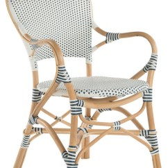 Blue Bistro Chairs Sideline For Soccer Rattan Dining Chair White And Set Of 2 Tropical By Kouboo