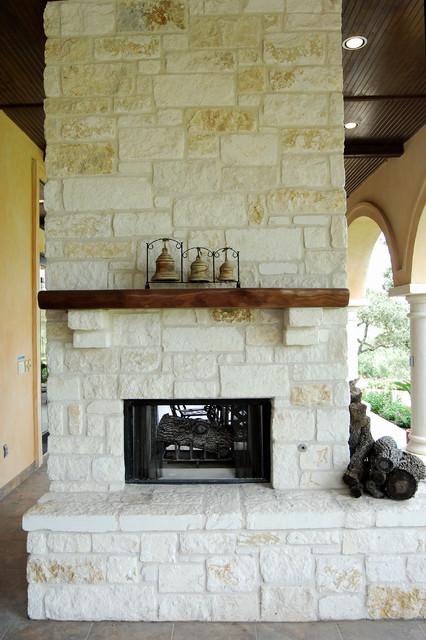 Fireplaces by Stadler Custom Homes  Mediterranean