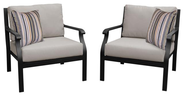 kathy ireland madison ave 2 piece outdoor aluminum patio furniture set 02b