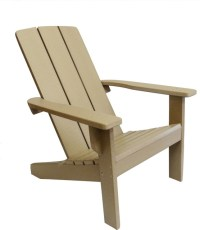 Modern Poly Adirondack Chair, Weathered Wood