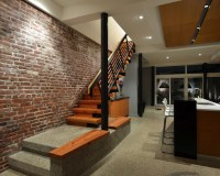 Lantern House Living/Kitchen - Modern - Staircase ...