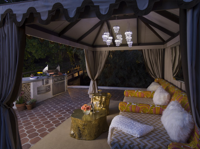 BBQCabana  Mediterranean  Patio  Los Angeles  by SoCal Contractor