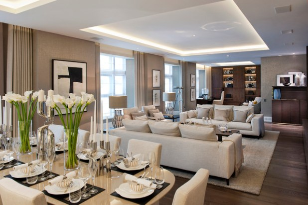 Elegant Living Room Furniture Ideas And 25 Best Transitional Rooms ...