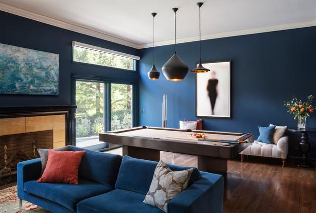 Modern & Eclectic Living room contemporain-salle-de-sejour