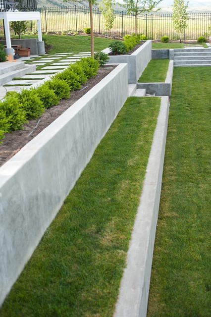 concrete terraces - modern landscape