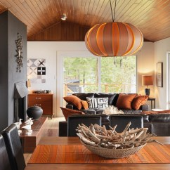 Island Style Decorating Living Room Decor Ideas Brown Leather Sofa Houzz Tour Creative Design Moves Rescue An Cottage