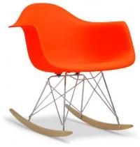 EZ Mod Molded Plastic Rocker, Orange - Midcentury ...