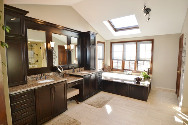 Dark Wood Master Bathroom Traditional Bathroom
