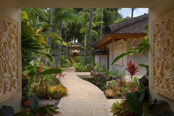 bali house - tropical landscape