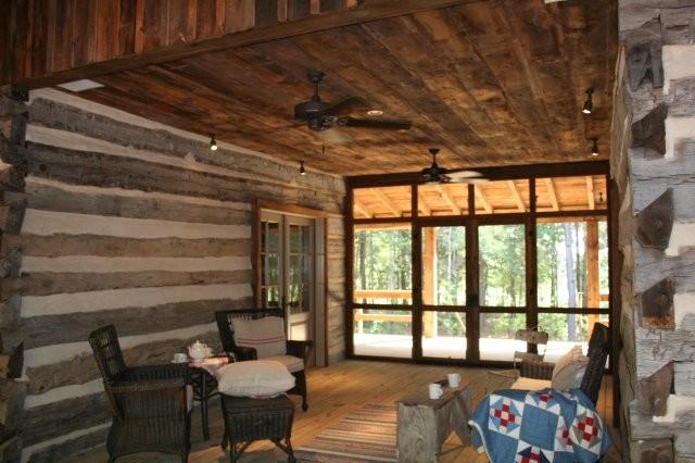 Historic 1856 Dog Trot Log Home  Rustic  Living Room  Dallas  by Stephen B Chambers