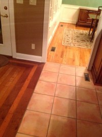 What to replace tile floor with in kitchen with 2 ...