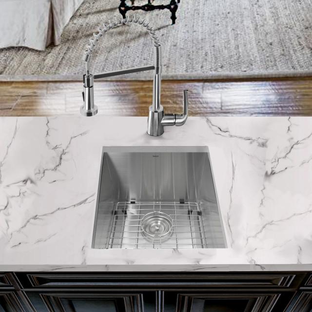 nantucket sinks 15 pro series zero radius undermount stainless bar prep sink