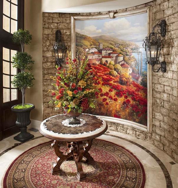 Formal Foyer Mediterranean Entry Dallas By Wesley Wayne Interiors LLC