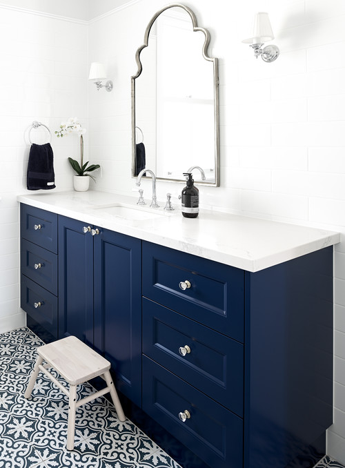 8 Navy Blue Bathroom Vanity Ideas The Plumbette