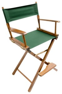 """Gold Medal 24"""" Walnut Commercial Director's Chair ..."""