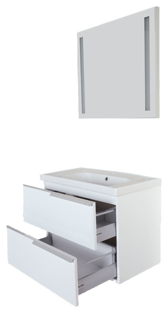 Argento Contemporary Glossy White Wall Mount Bathroom Vanity Sink Combo Contemporary Bathroom Vanities And Sink Consoles By Giallo Rosso Home Supplies Llc