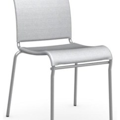 Air Chair Frame High Baby Stackable Satin Steel Synthetic Fabric Net Seat Contemporary Dining Chairs By Calligaris